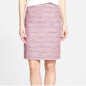 Halogen pink tweed pencil skirt